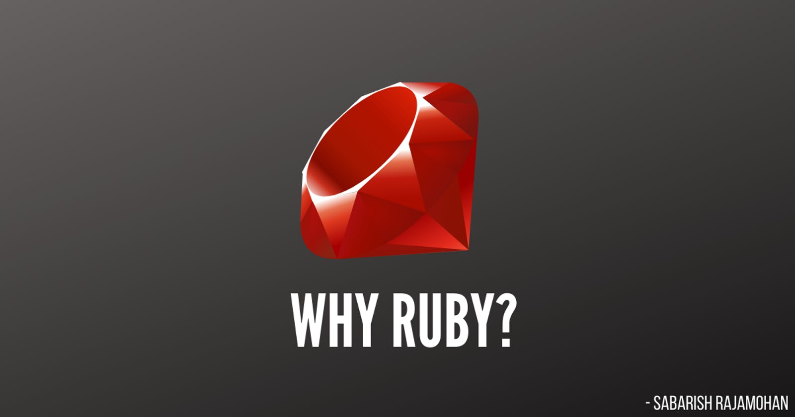 Why Ruby in 2020?