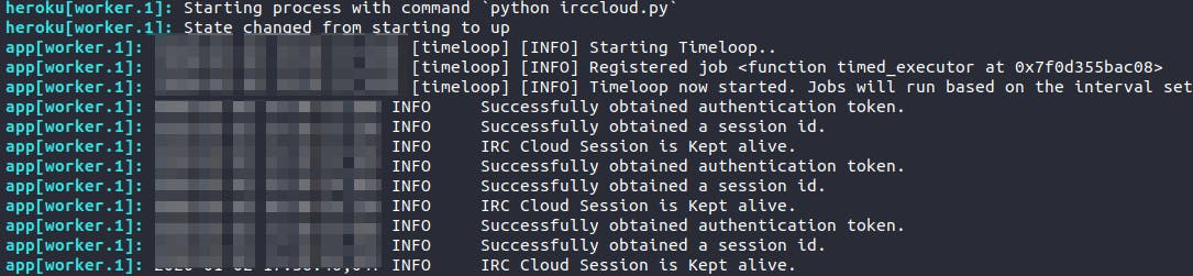 IRC Cloud Heroku logs