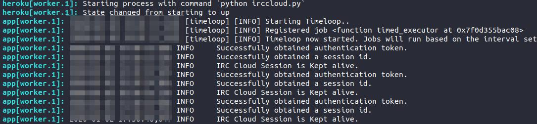 IRC Cloud Heroku logs