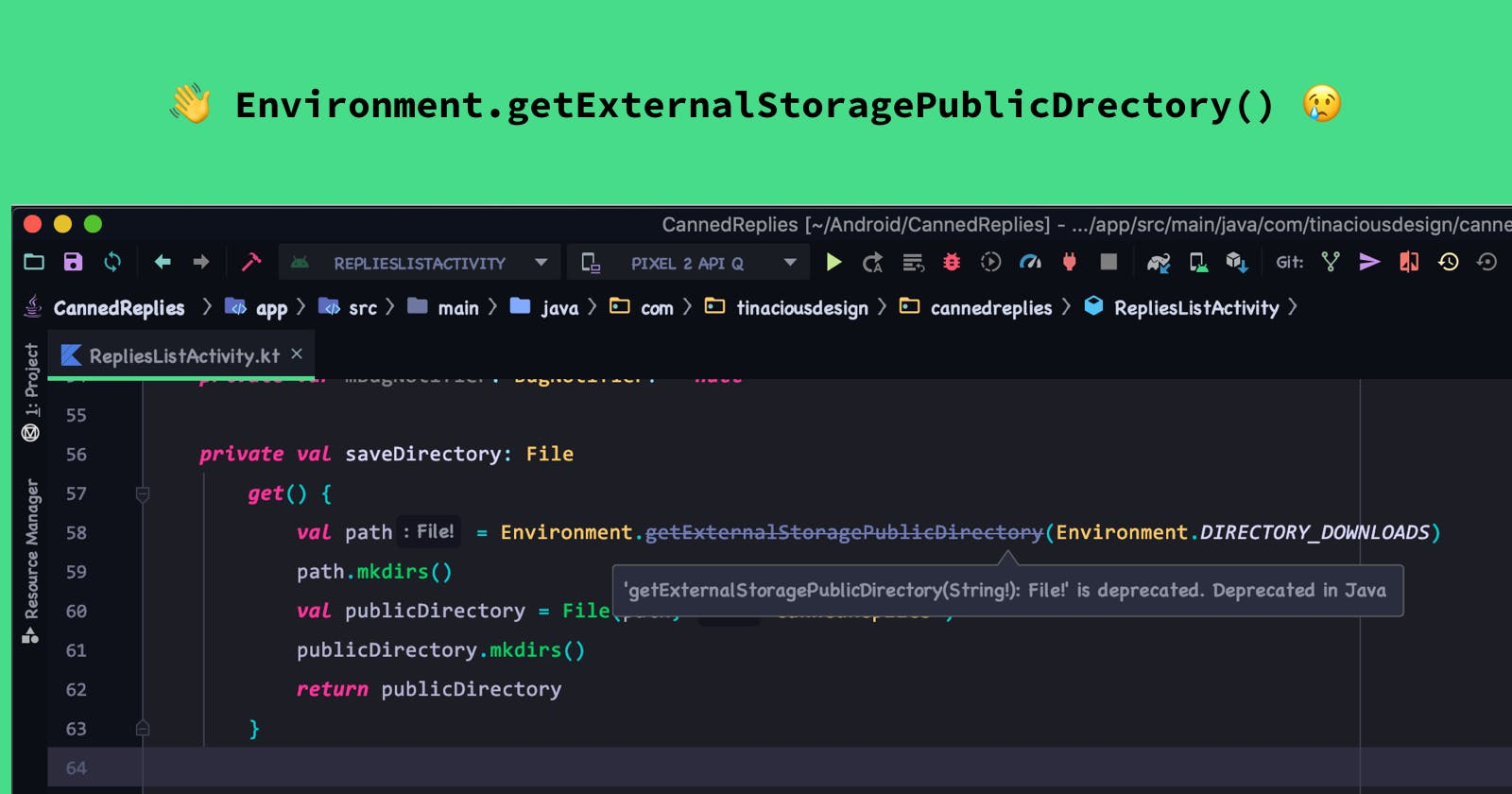 Migrating from get External Storage Public Directory in Android 10 & 11