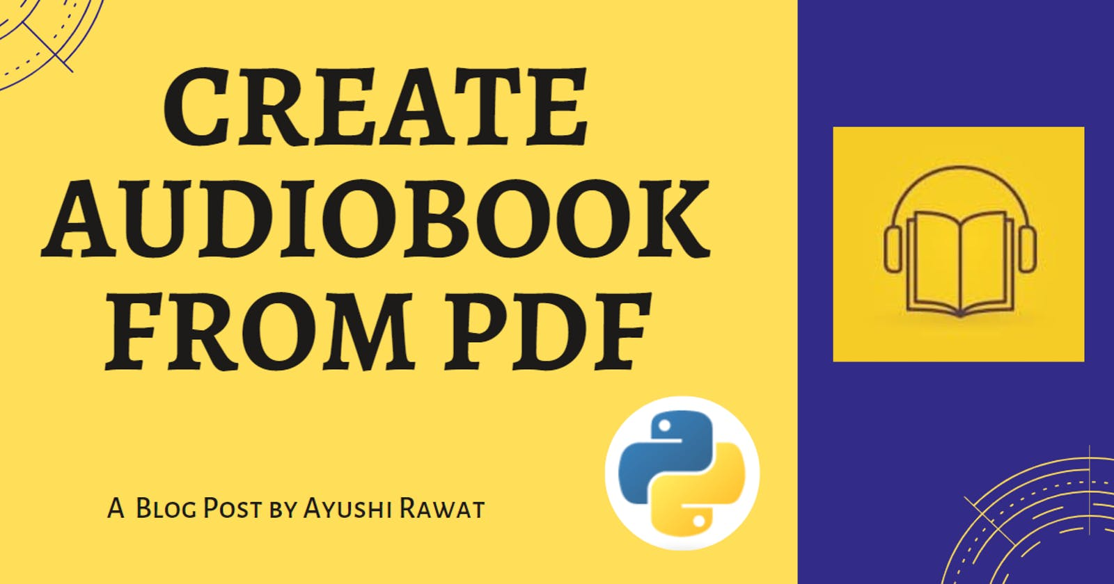 Create your own Audiobook from any pdf with Python