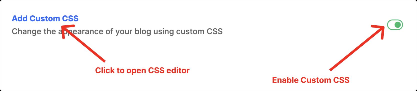 Hashnode's Custom CSS