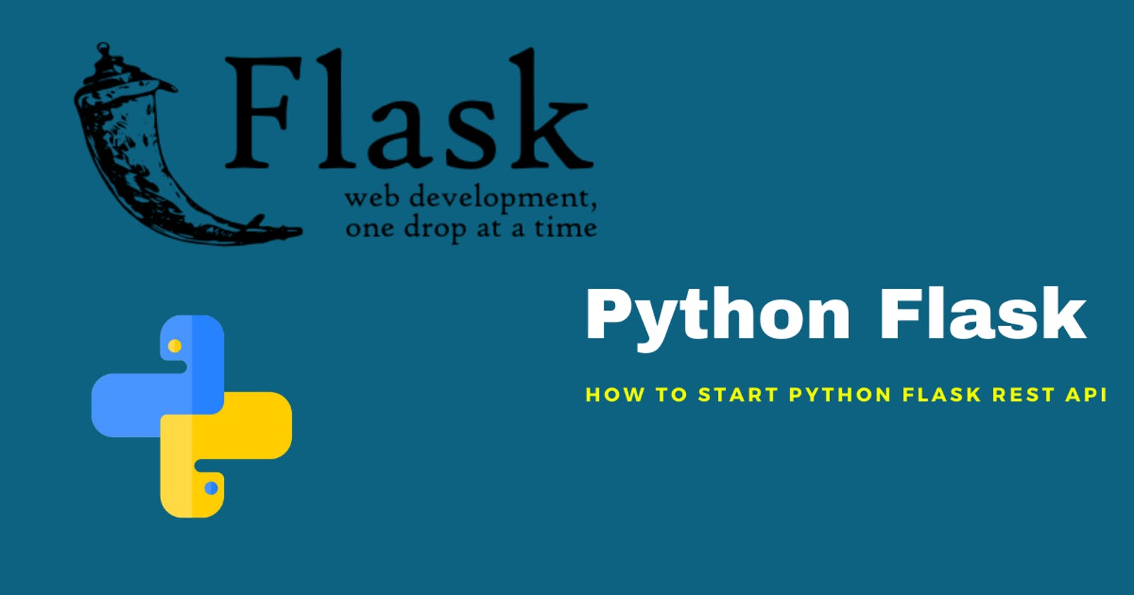 How to start Python Flask REST API