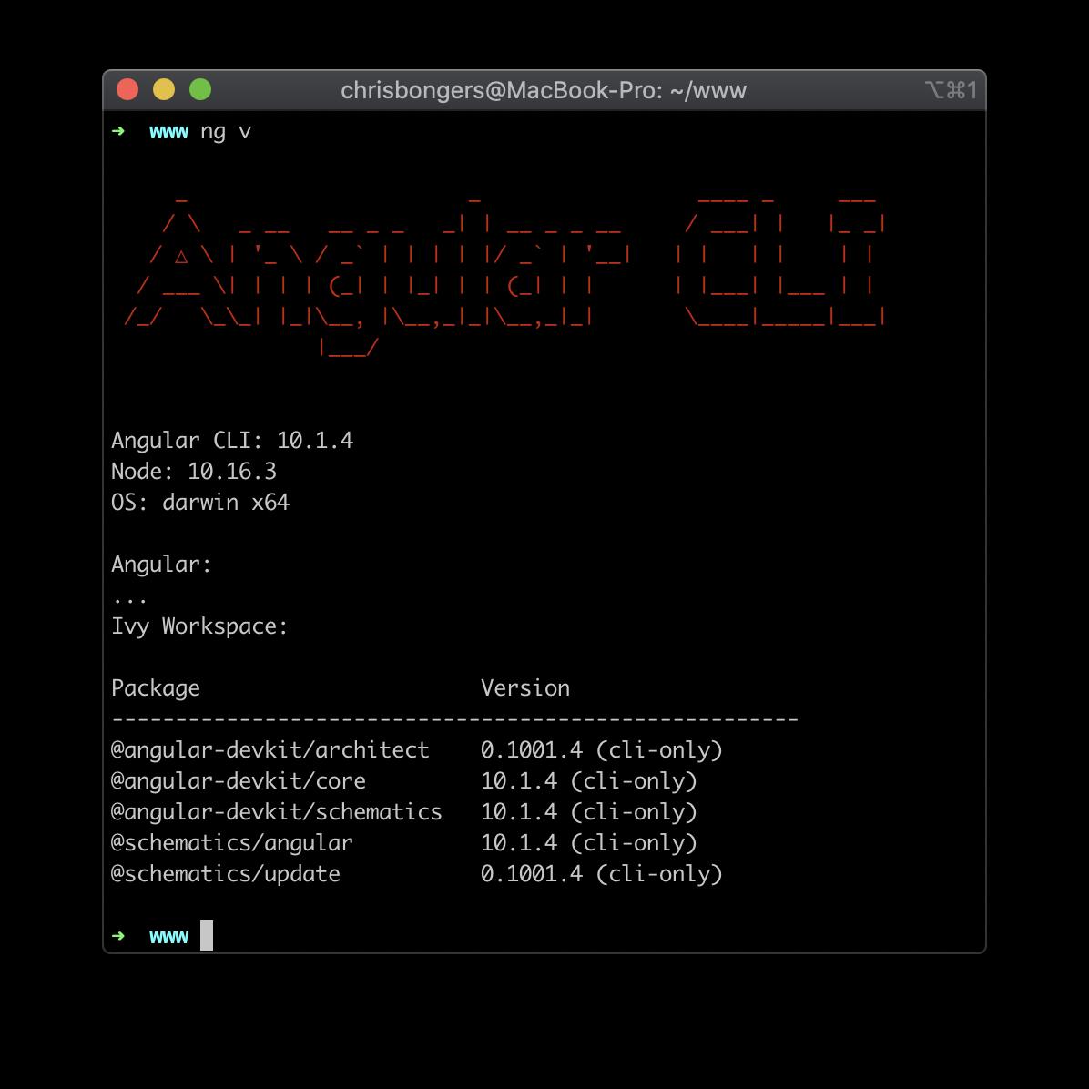 Angular CLI running