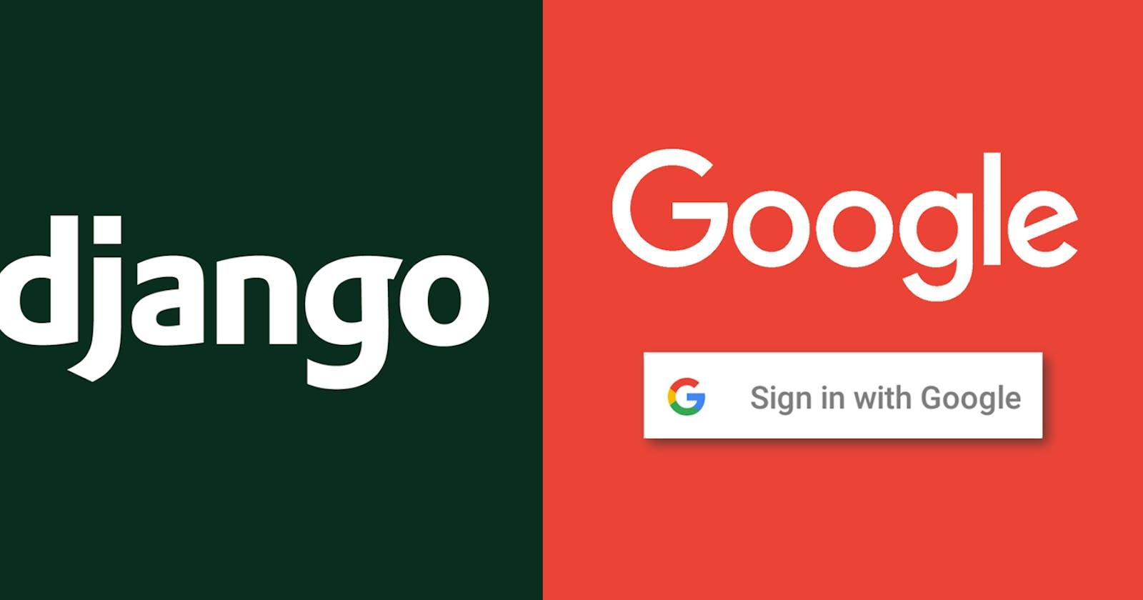 Google APIs OAuth in Django