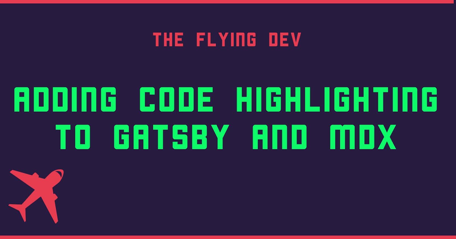 Add code highlighting to MDX