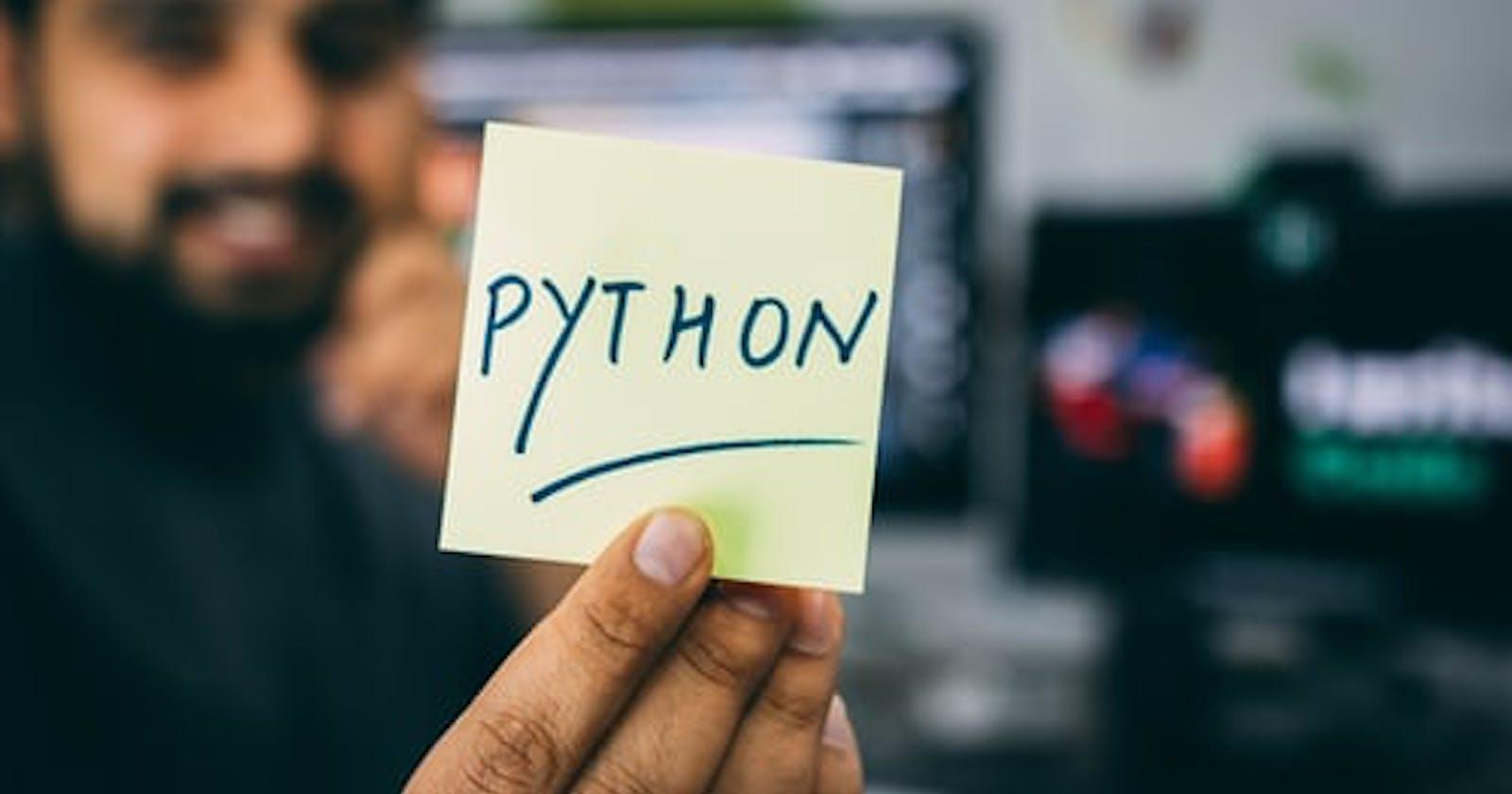 Beginner-friendly resources for Python