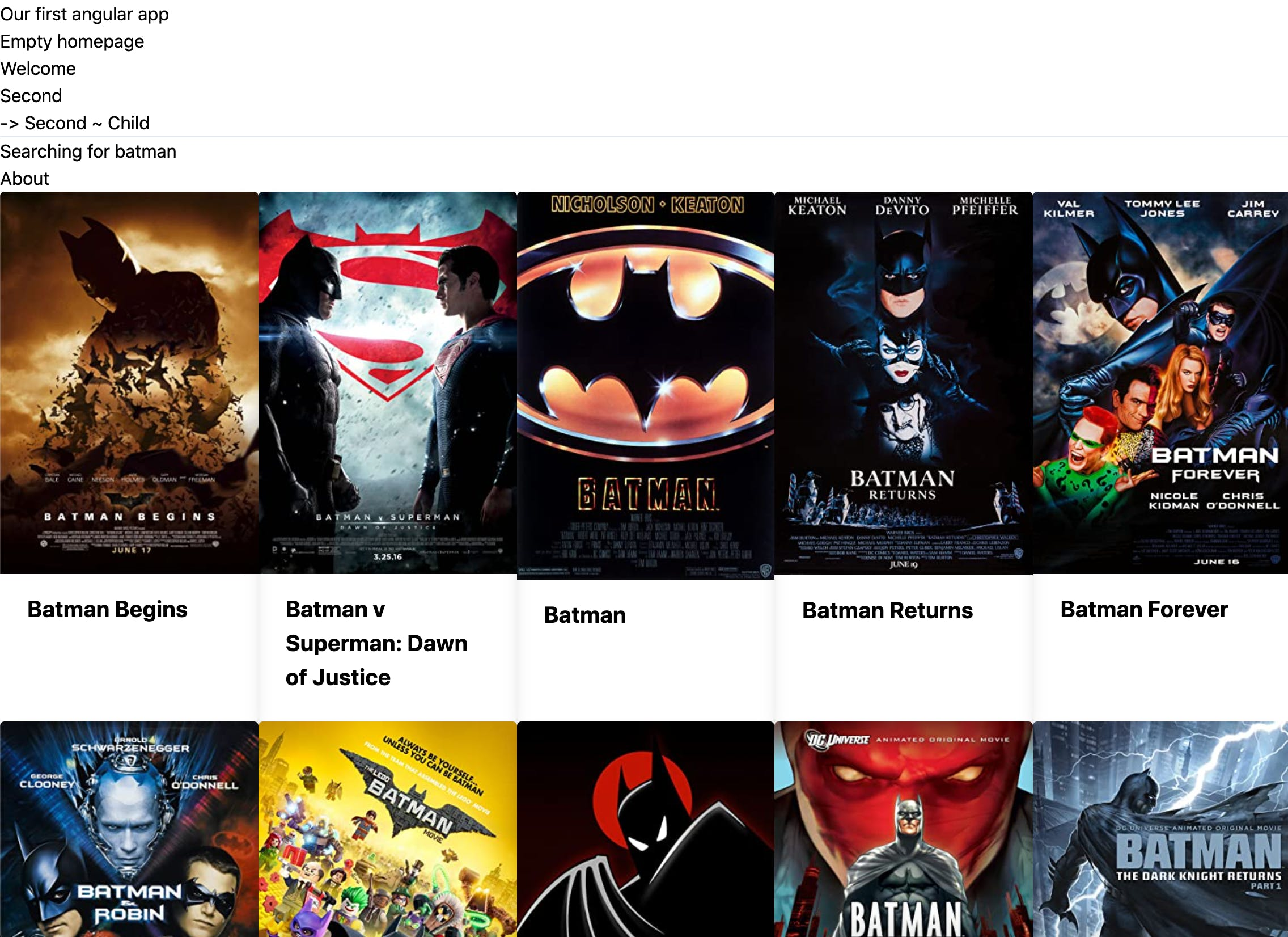 Movie search app in Angular