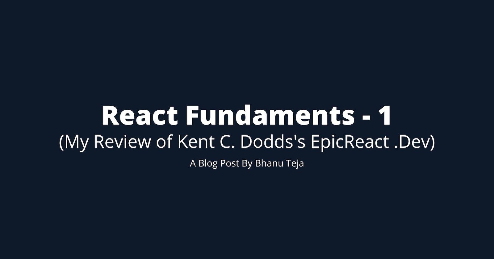 React Fundamentals: Intro to React Raw APIs