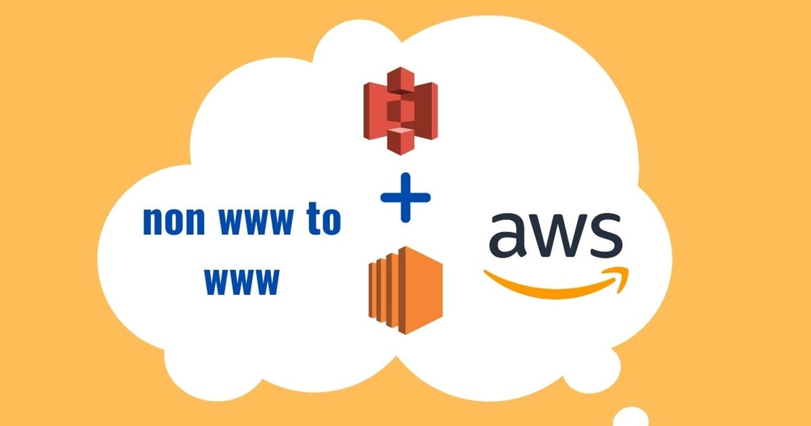 Rewrite non www to www in AWS S3 bucket and CloudFront