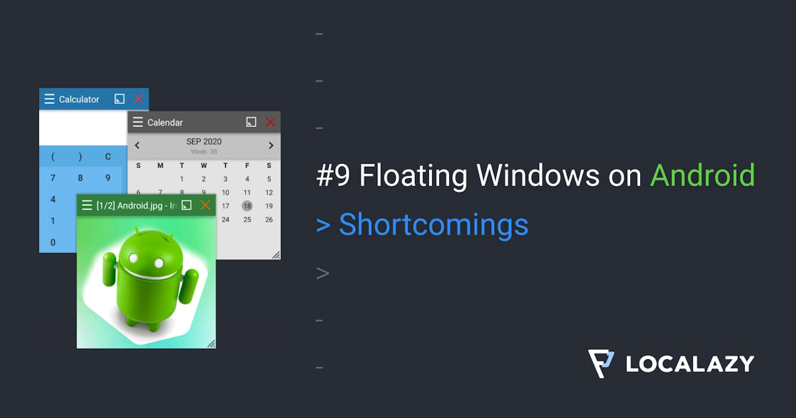 Shortcomings of floating windows on Android
