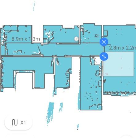Roborock map inside the official app