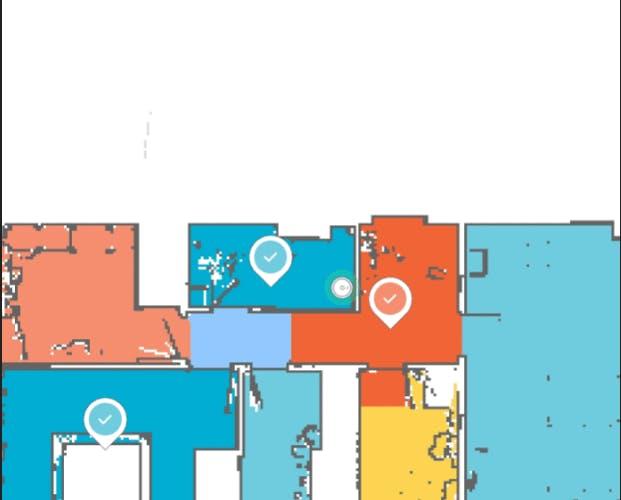 Xiaomi Mi Roborock map with rooms