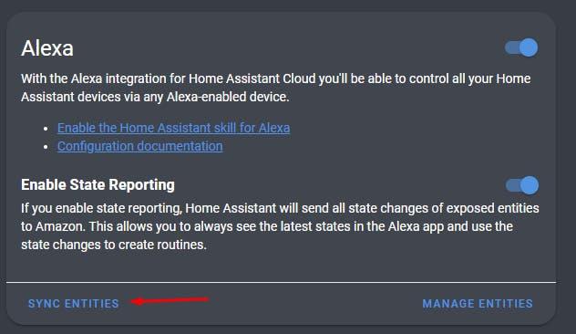 Alexa Integration for Home Assistant