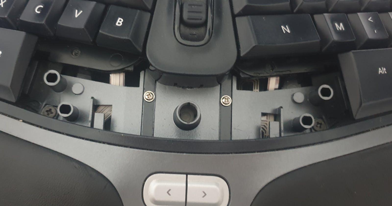 How to fix the noisy spacebar on the Microsoft Ergonomic Keyboard 4000