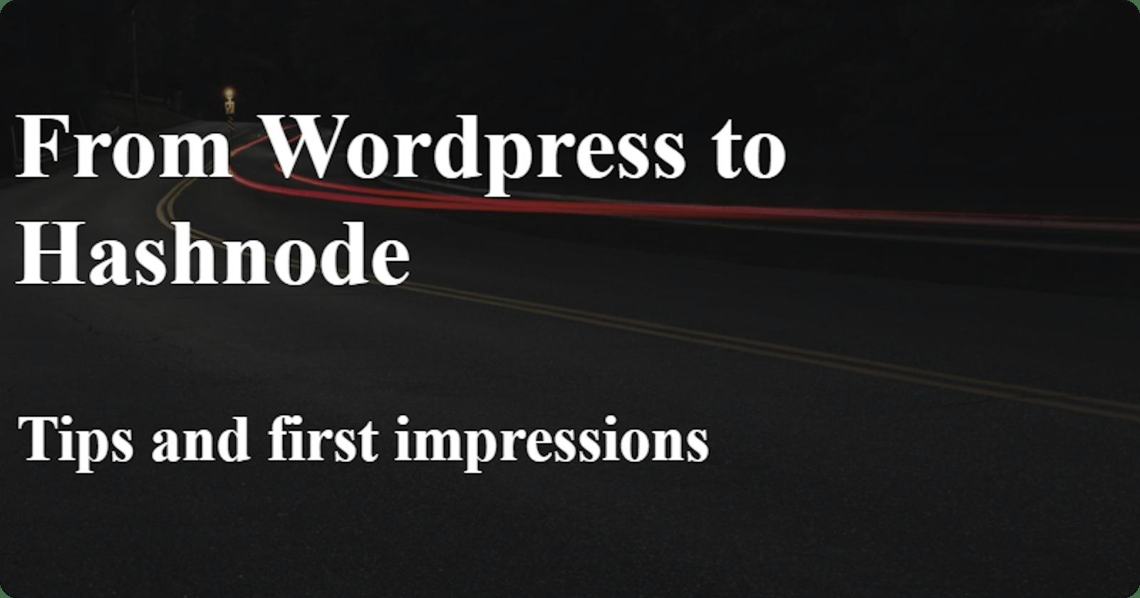 Migrating from GoDaddy's Wordpress hosting to Hashnode