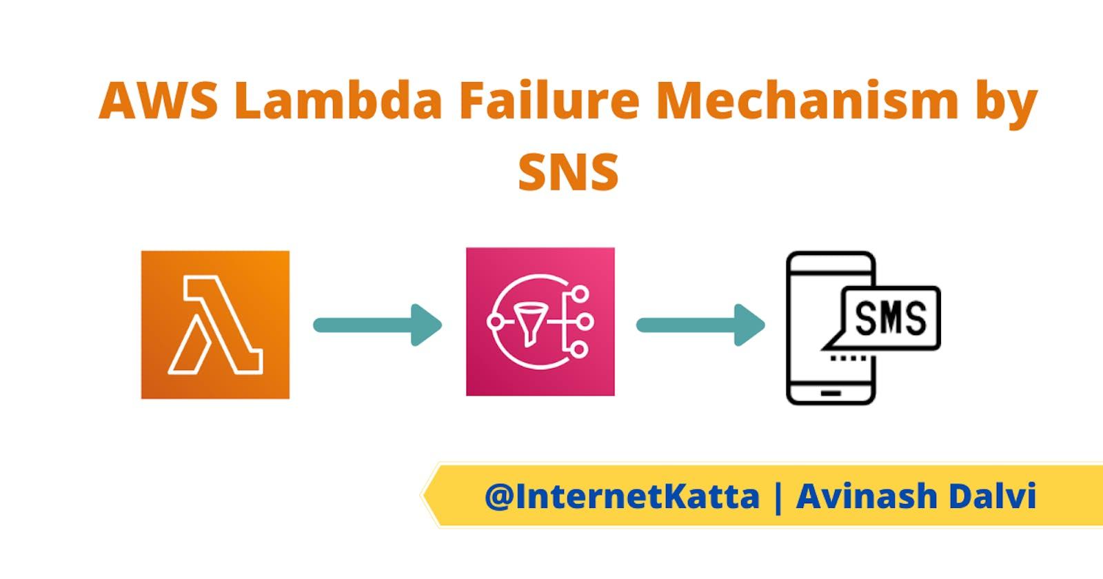 AWS Lambda monitoring mechanism using SNS