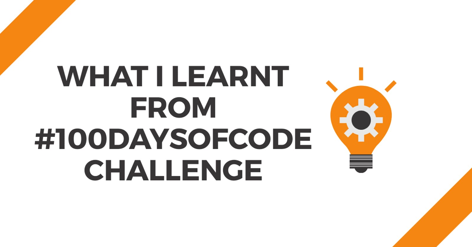 What I learnt from #100DaysOfCode ?