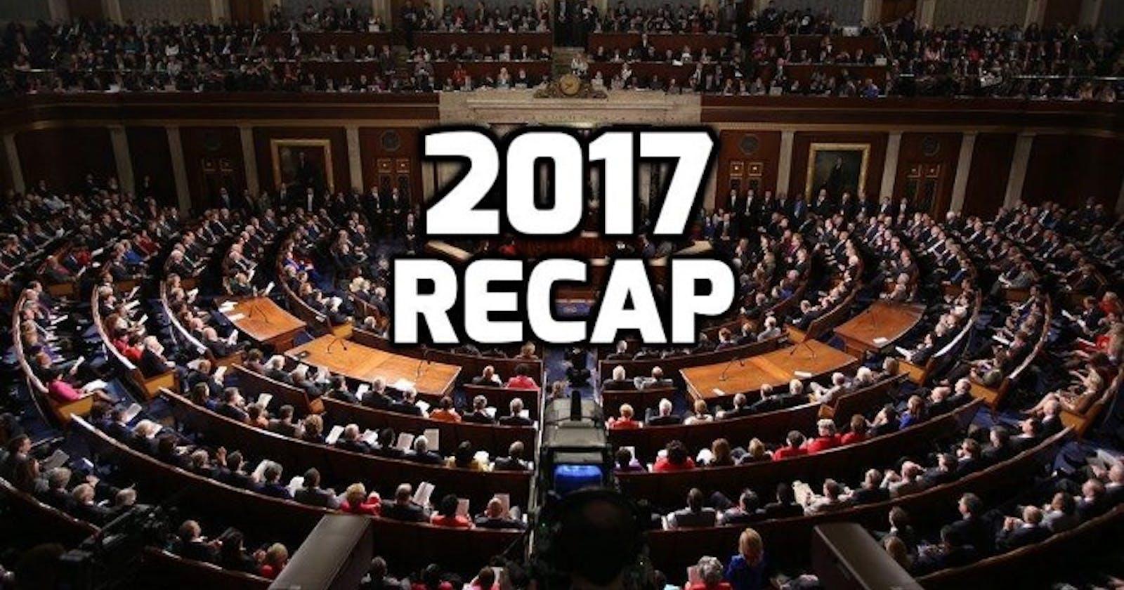 A recap of 2017