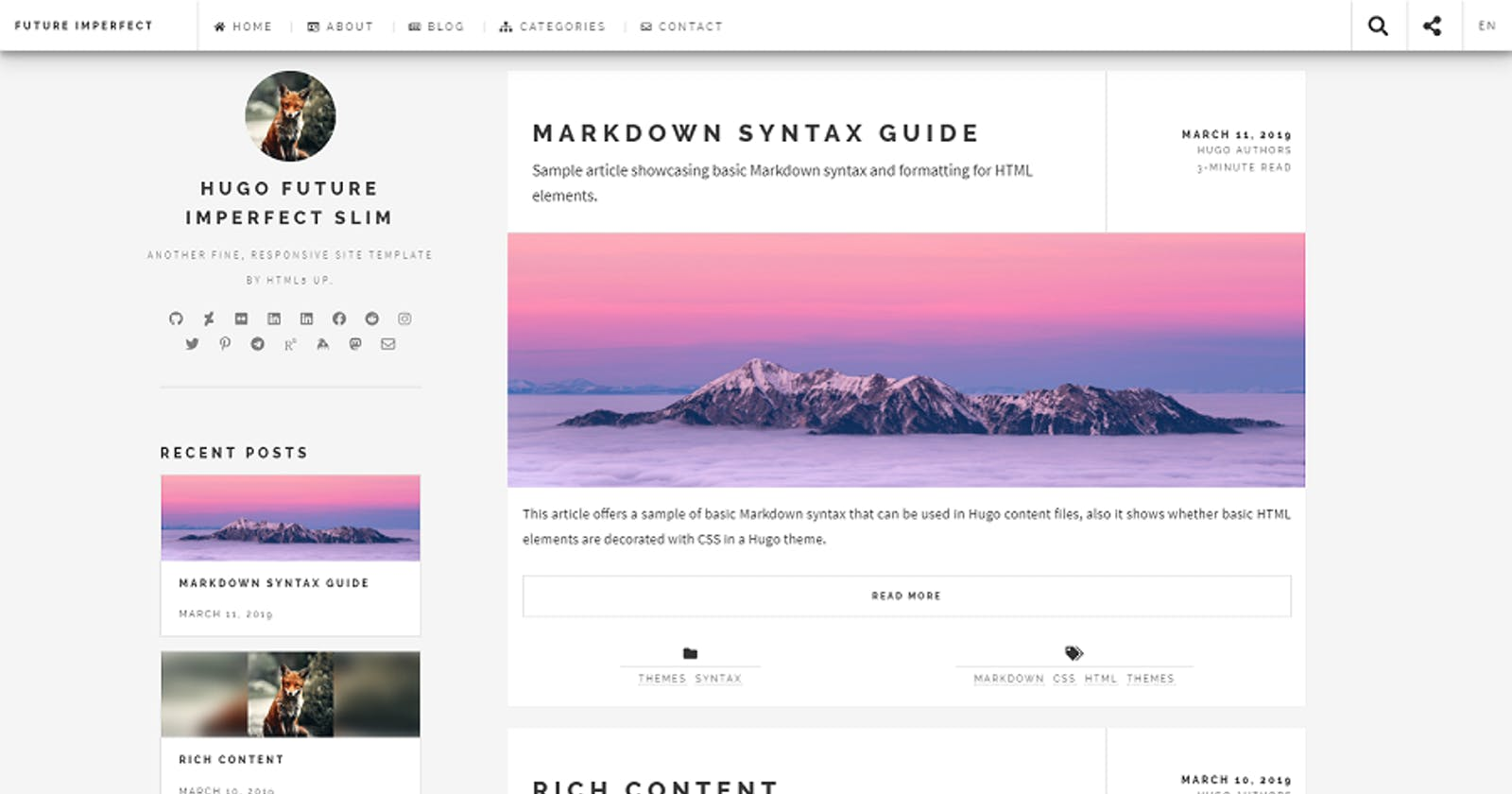 Customize theme for Personal Blog - with Hugo