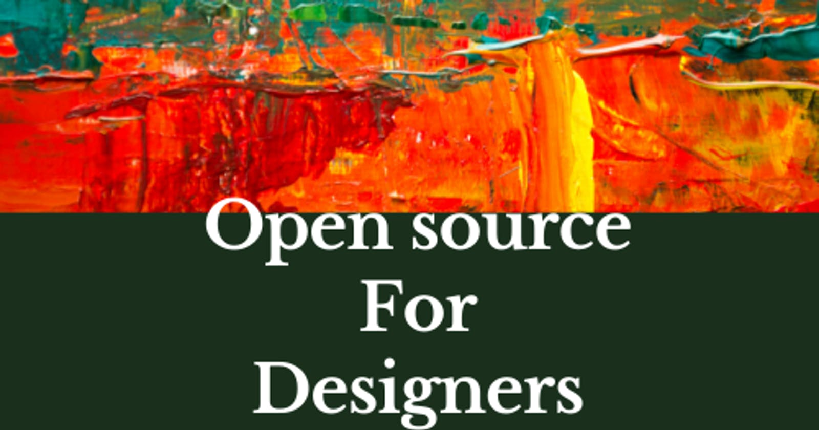 Designers can contribute to Open-source too.