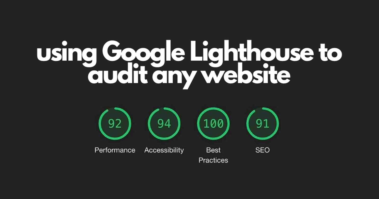 Using Google Lighthouse to audit any website