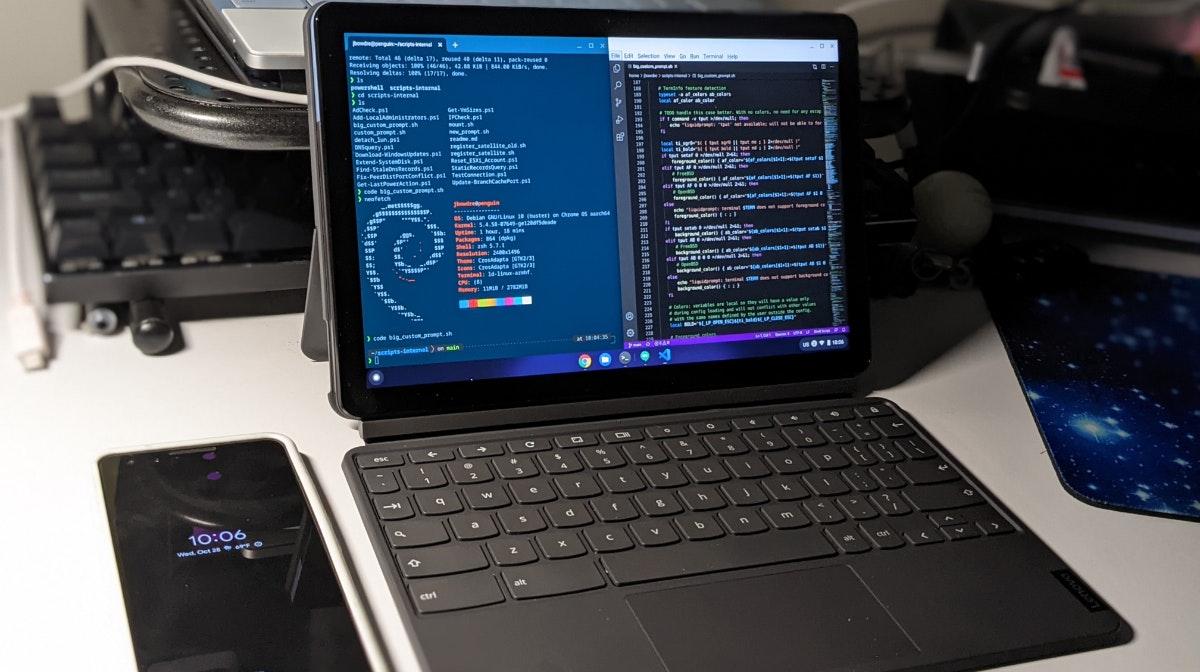 Setting Up Linux On A New Lenovo Chromebook Duet Bonus Arm64 Complications