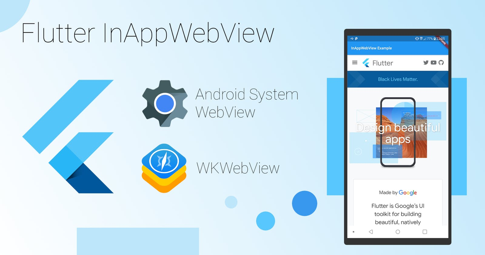 Flutter Advanced Webview Tutorial #1-InAppWebview(Android &iOS).