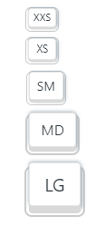 kbc-button sizes