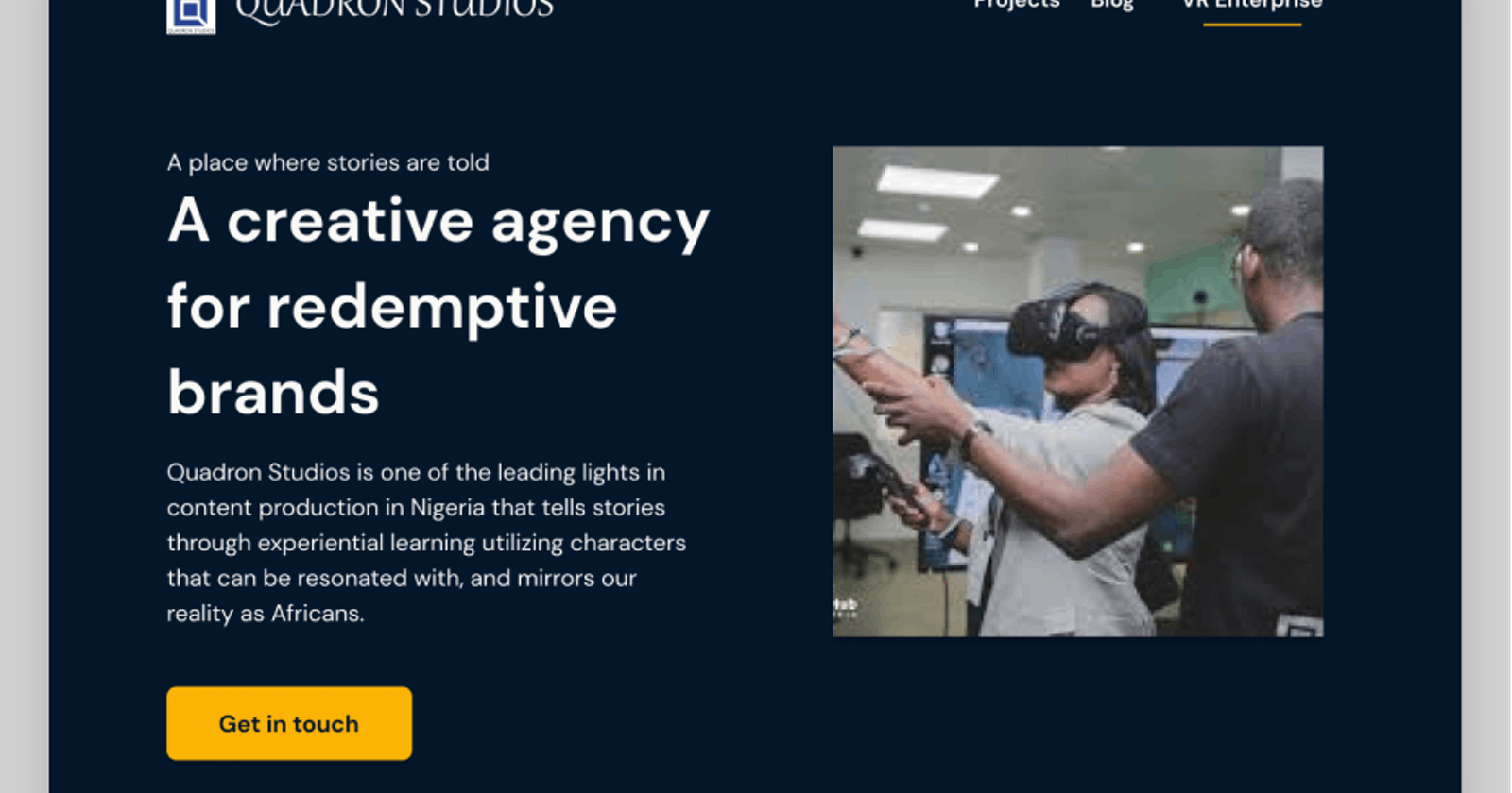 Quadron: Redesigning the  UX behind creative African stories