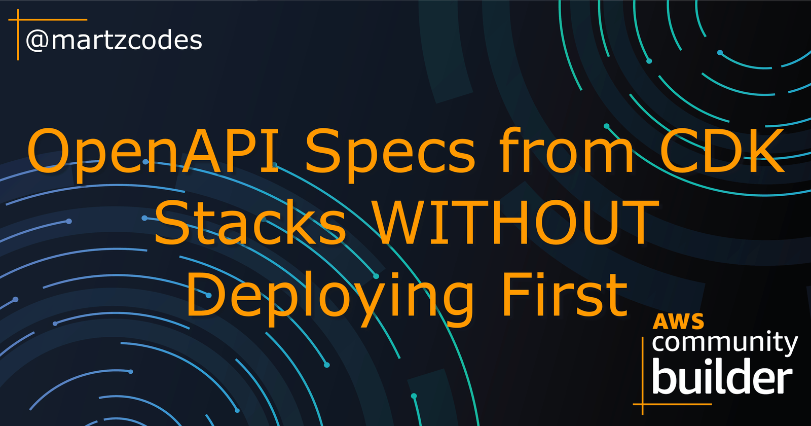 OpenAPI Specs from CDK Stack WITHOUT Deploying First