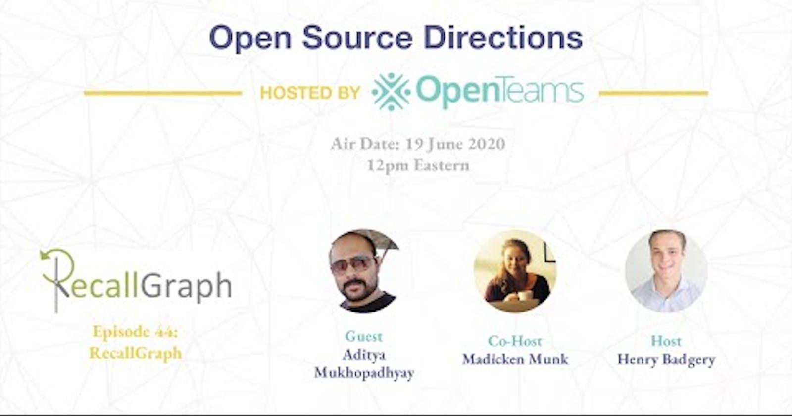 RecallGraph Presented @ Open Source Directions