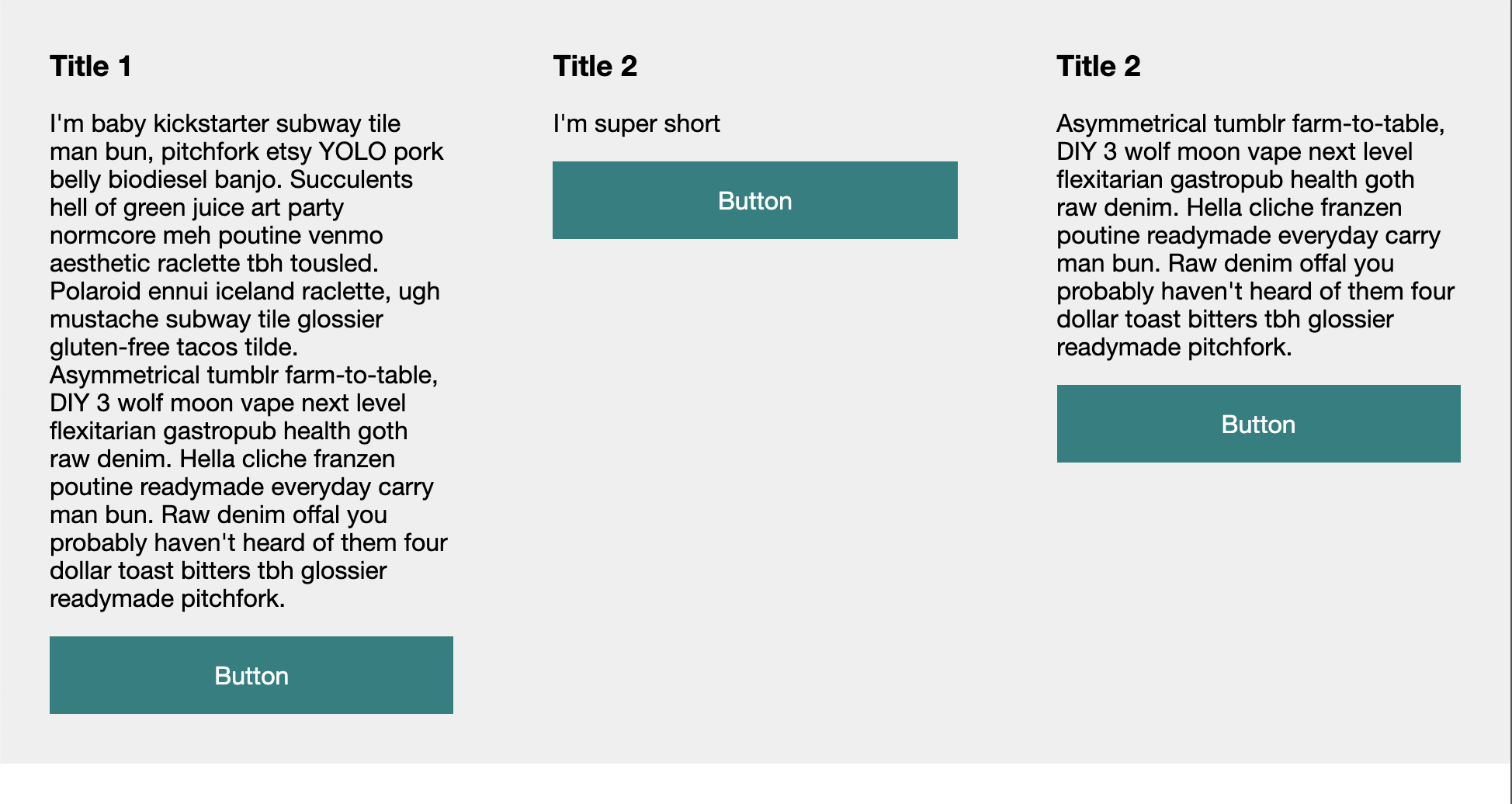 CSS Equal height columns