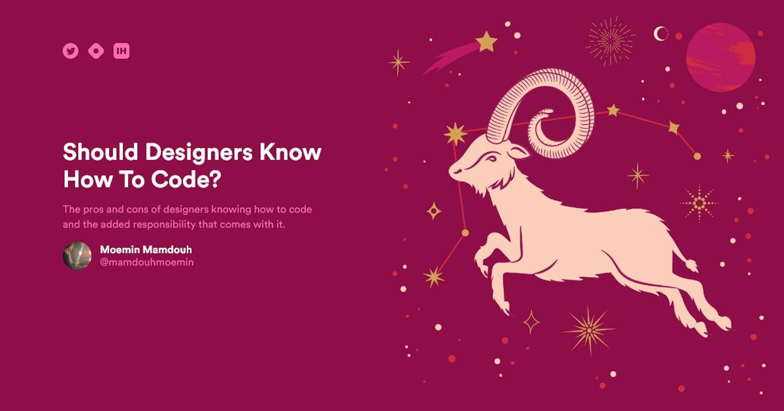 Developers, do you think Designers should code?