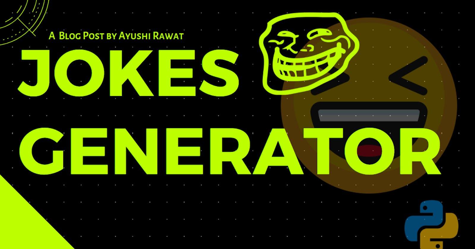 Jokes Generator with python