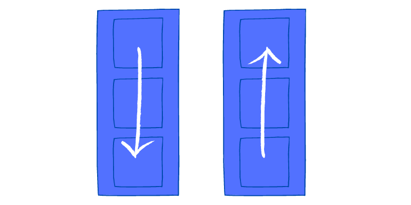 Flex direction column and column reverse