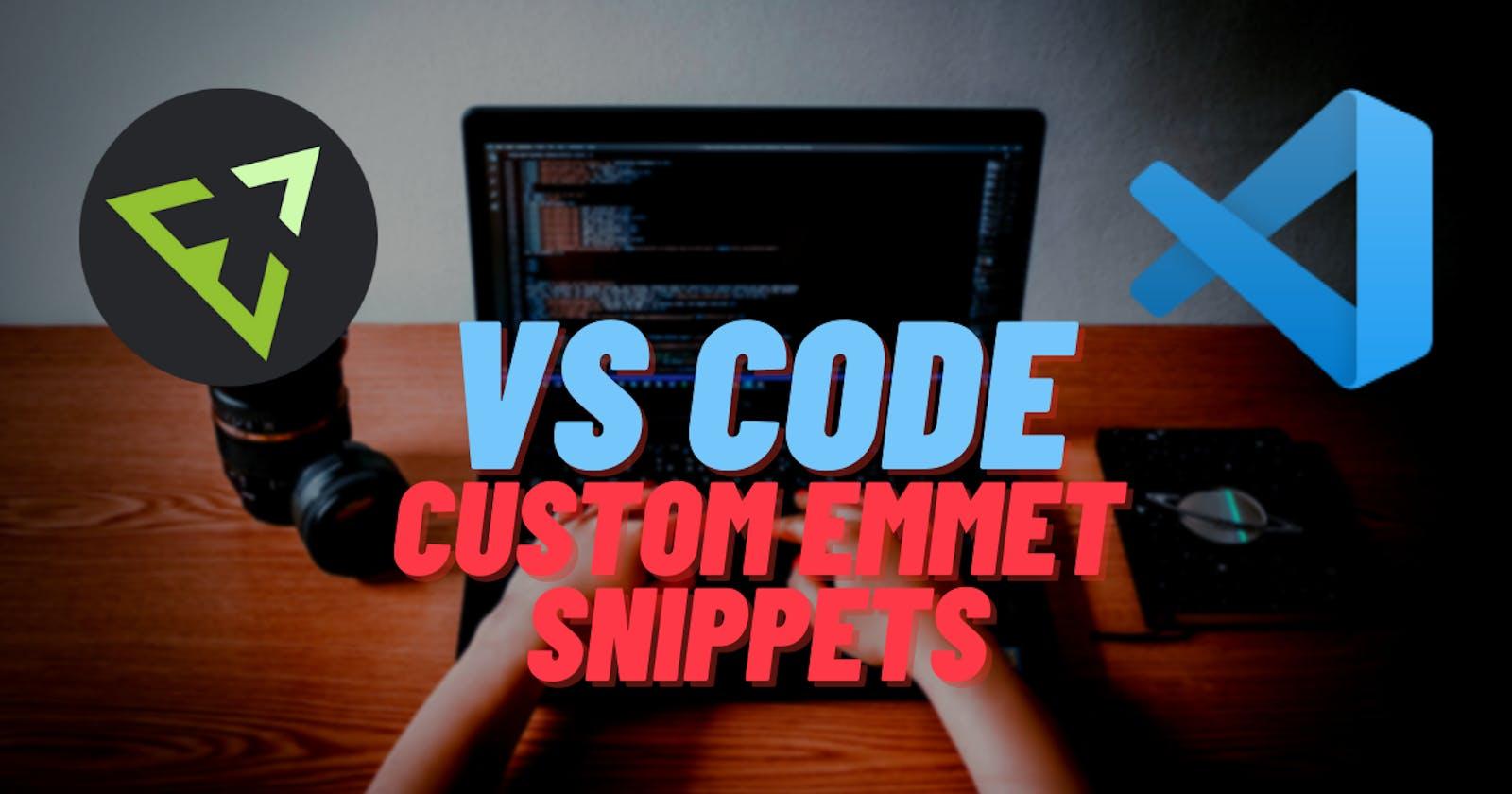 ✨ How to create Custom Emmet Snippets in VS Code!