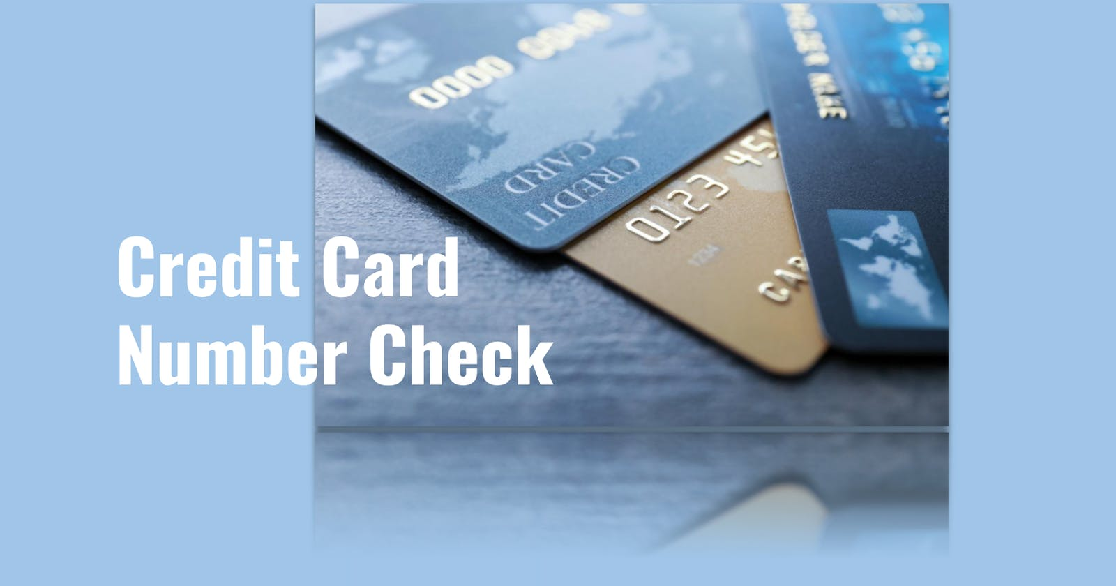 Credit card number check