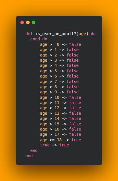 Programming hack job