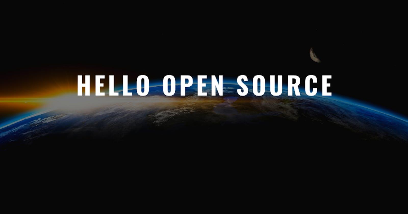 Hello Open Source 👋