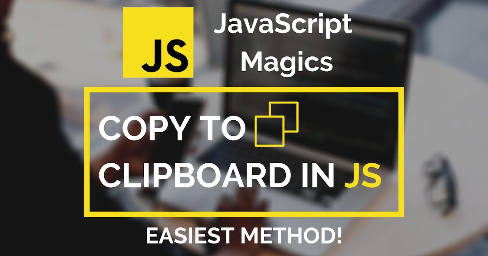 💡 Easy Copy to Clipboard Button in Vanilla JavaScript