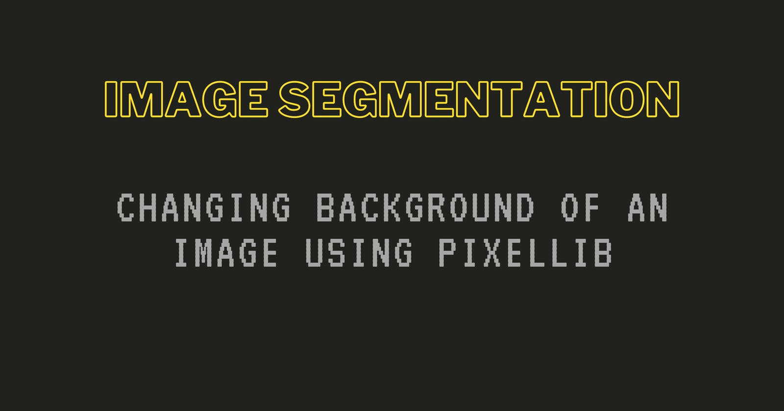 How to Change Background of an image using PixelLib