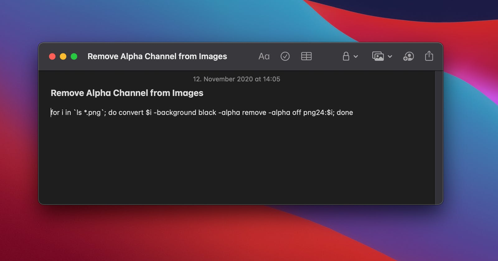 Remove alpha channel from multiple images easily on the terminal