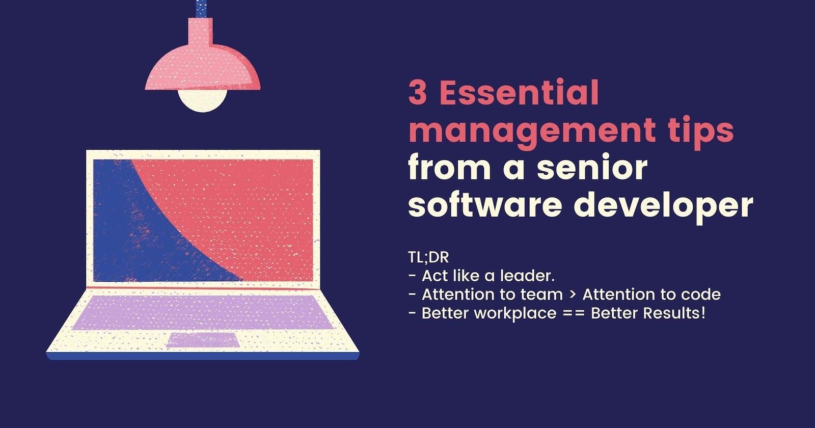 3 essential management tips from a senior software developer