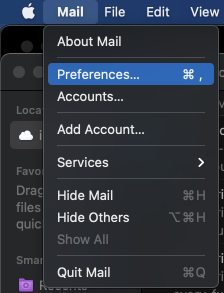Mac mail preferences