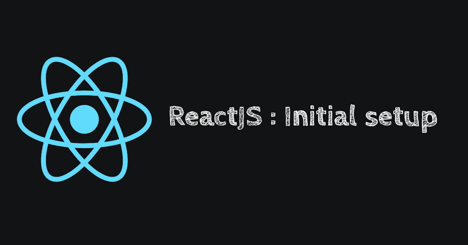 Setup React Application using Npm