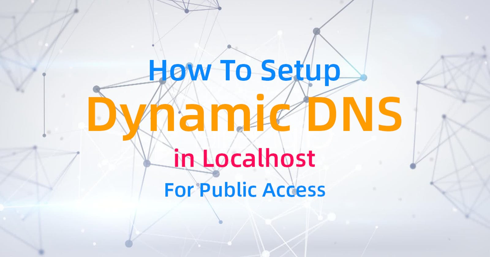How To Setup Dynamic DNS in Localhost For Public Access