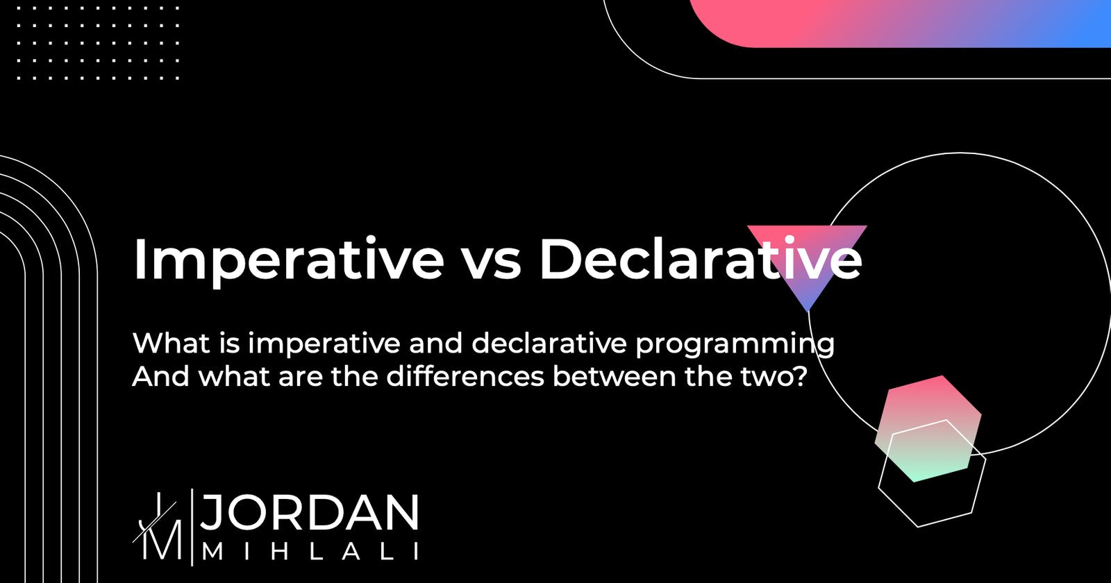 Imperative vs Declarative programming –What do they actually mean?