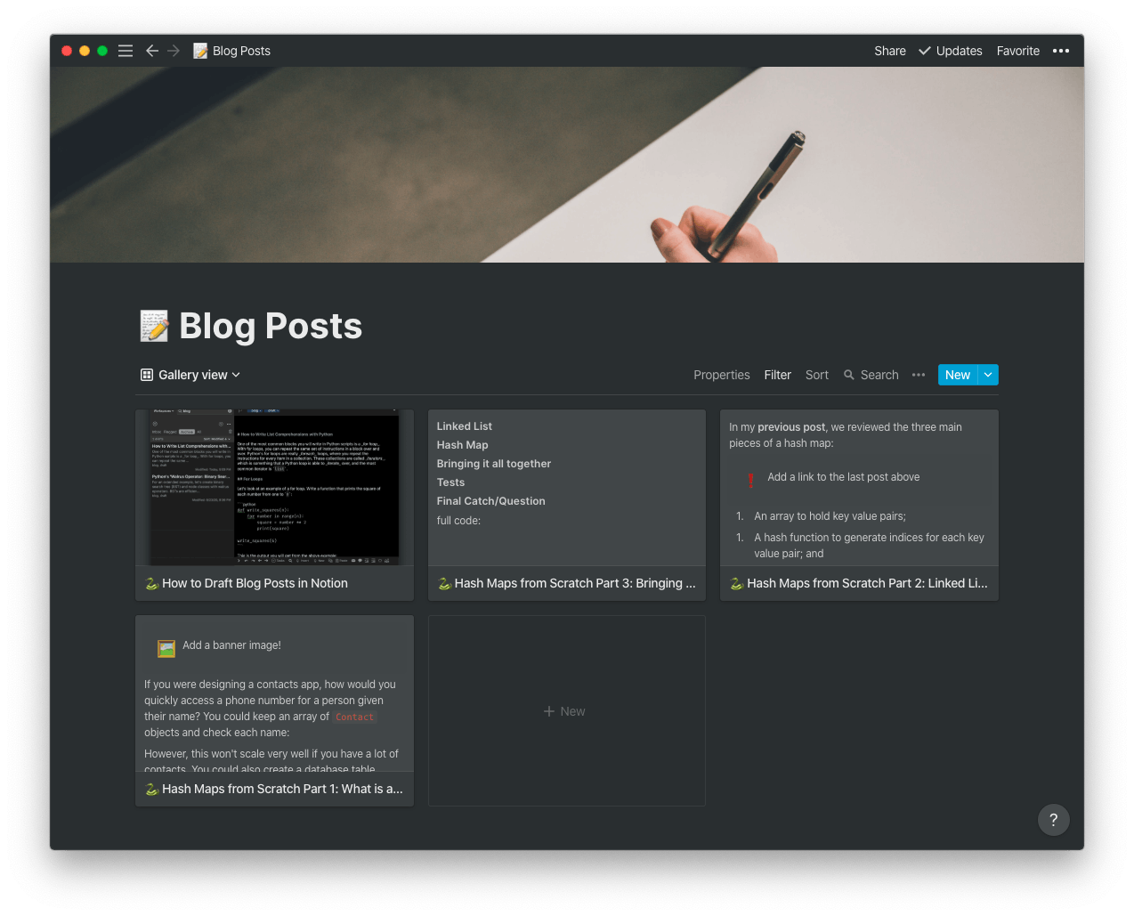 Gallery View of My Blog Posts