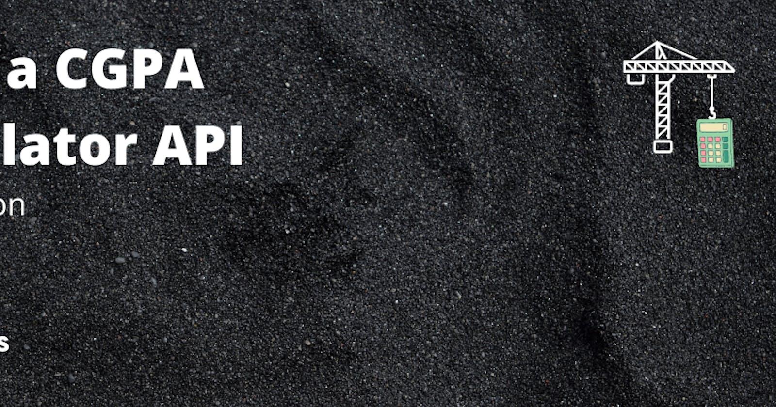 Build a CGPA Calculator using AdonisJS: Introduction